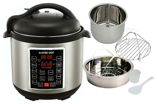 Gowise Usa 8-In-1 Electric Pressure Cooker/slow Cooker, 6 Qt.