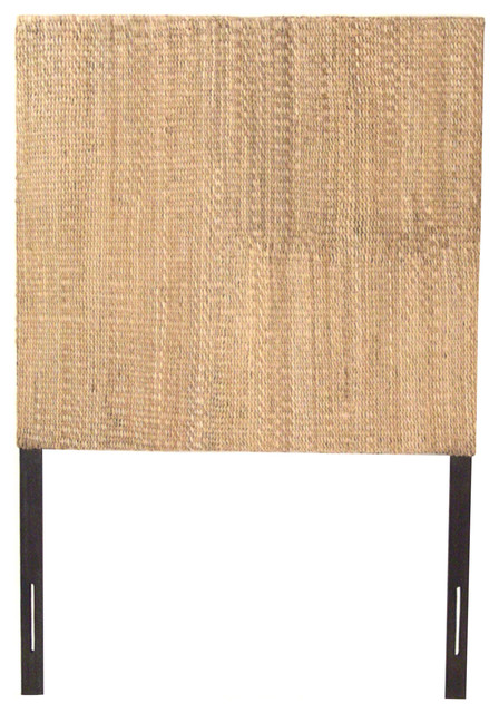 Grass Weave Headboard, Natural, Queen.