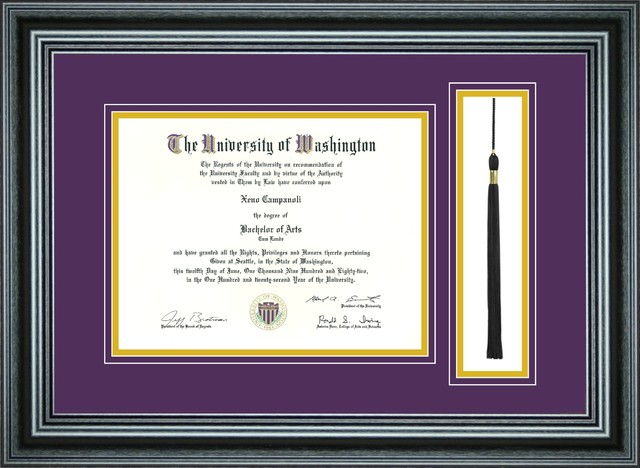 single diploma frame with tassel for 85 x 11 diploma traditional picture