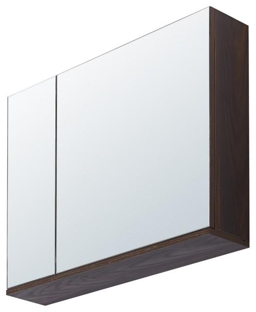 "29.5"" Medicine Cabinet, Brown Elm Wood Texture Finish, Brown Elm."