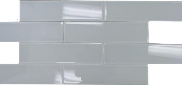 Super White Glossy Subway Gl Tile 4 X16 10 Sheets