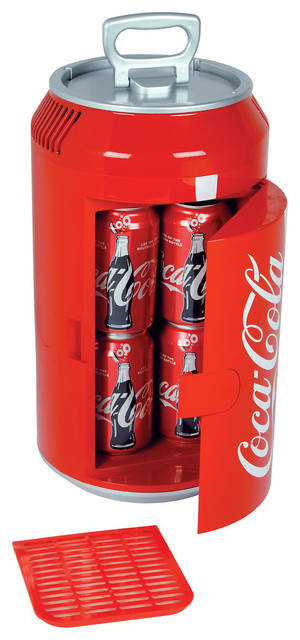 koolatron mini coca cola can cooler eclectic coolers and ice chests by koolatron. Black Bedroom Furniture Sets. Home Design Ideas