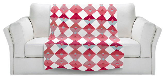 triangles pale pink throw blanket contemporary throws by dianoche designs. Black Bedroom Furniture Sets. Home Design Ideas