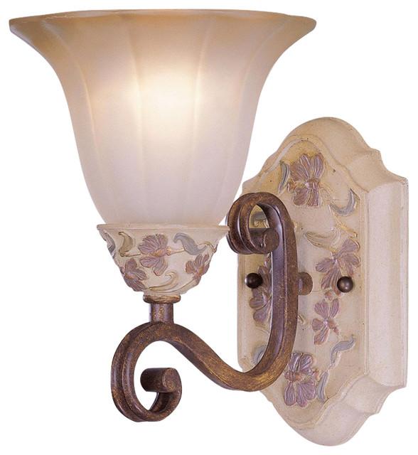 Victorian Bathroom Vanity Lighting classic lighting tapestry 1-light vanity - victorian - bathroom