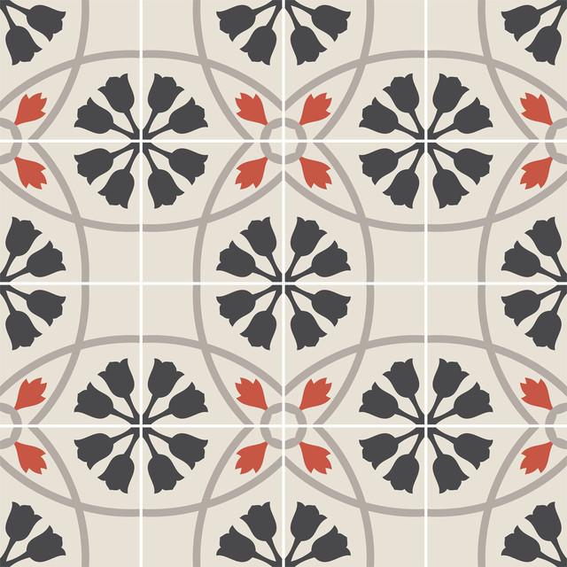 Vinyl Floor Tile Sticker, Tulipano Floor Panel, Set of 2