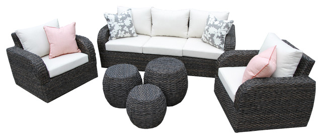 Ae Outdoor Sanford 6 Piece Outdoor Deep Seating Set.