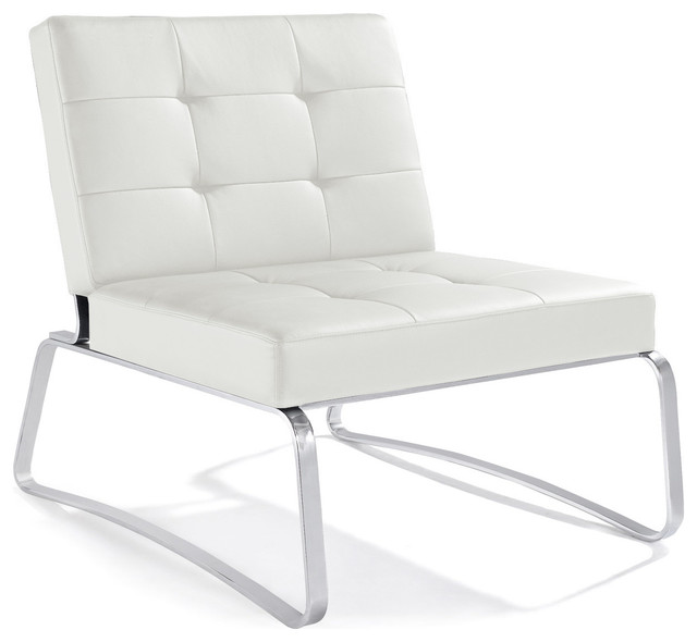 Gentil Hermes Lounge Chair, White