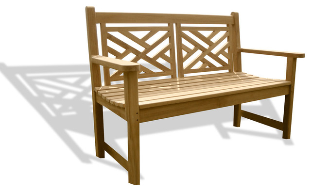 Genuine Grade A Teak, British Classic Chippendale 2 Seater Bench, 48.