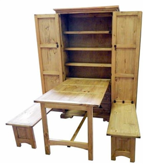 Genial Rustic Cowboy Kitchen, Fold Up Table, Murphy Style
