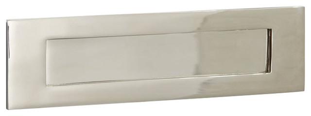 Letter Plate, 250mm, Polished Nickel