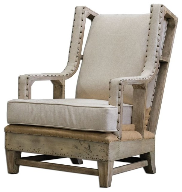 Gorgeous Classic Armchair Hardwood Neatly Tailored Home Furniture Decor