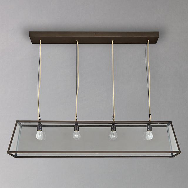 Ceiling Light Box Loose : Davey triangular diner box ceiling light industrial