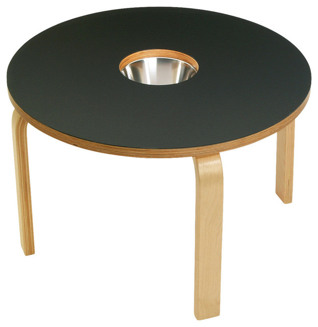 Woody Chalkboard Table, Black