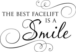 Vinyl Wall Decal ''The Best Facelift Is A Smile.'' - Modern - Wall Decals - by Lacy Bella Designs