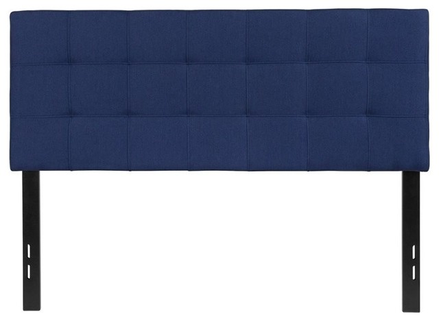 Flash Furniture Bedford Full Fabric Panel Headboard, Navy.