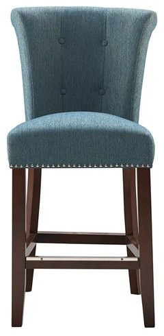 Madison Park Coffax Counter Stool, Blue