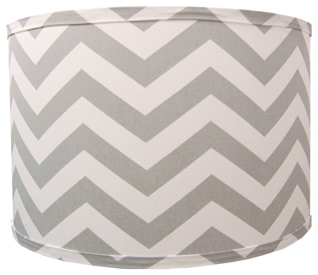 Gray Chevron Lamp Shade - Contemporary - Lamp Shades - by ...