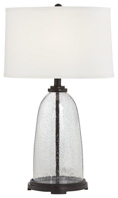 Fillable Seeded Gl Table Lamp