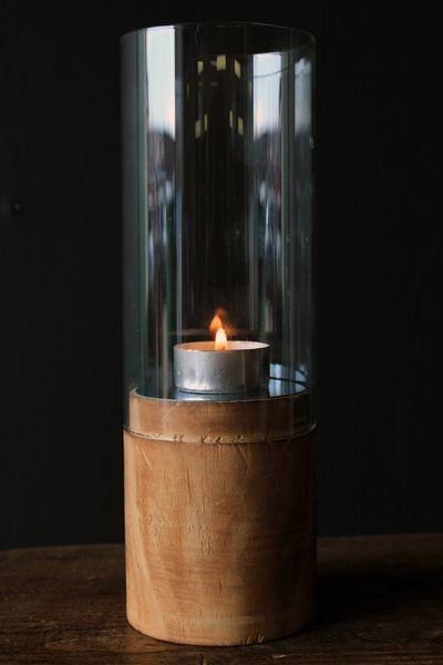 Wood glass and mirror hurricane candle holder for Kitchen colors with white cabinets with hurricane candle holders uk