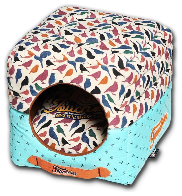 Touchdog Chirpin Avery Convertible And Reversible 2 In 1 Dog House Bed Contemporary Dog Beds By Pet Life Houzz