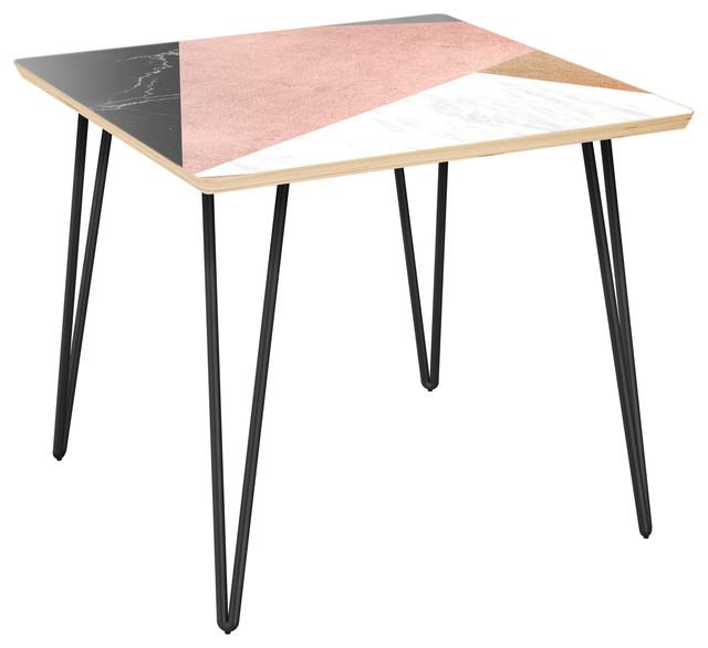 Mason Hairpin Side Table   Metallic Mashup