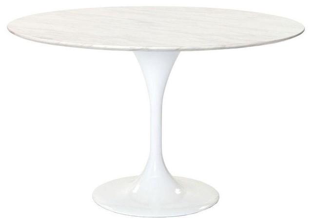 Saarinen Tulip Style Aero Marble Table Contemporary Dining Tables