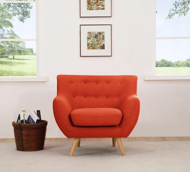 sixties armchair orange