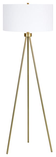 Evaline Vision 1-Light Floor Lamp, Antique Gold.