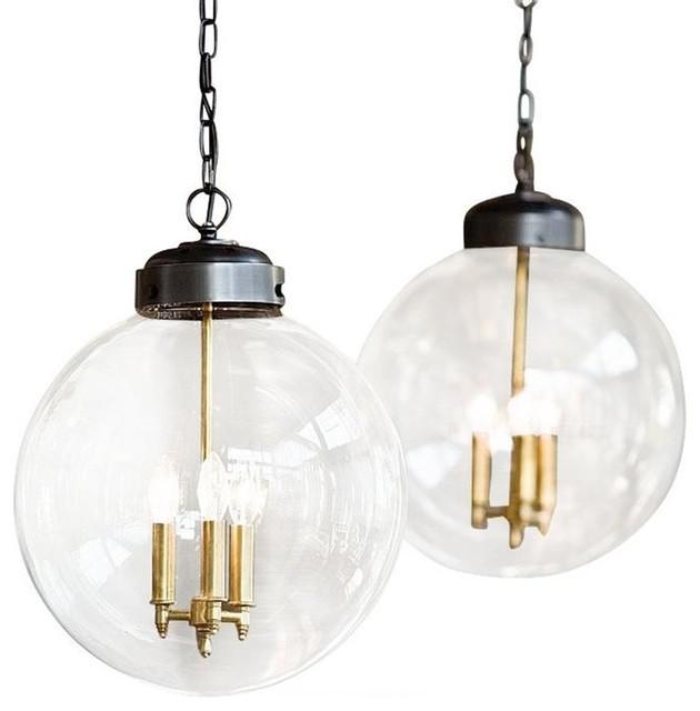 Regina Andrew Lighting Large Globe Pendant Brass