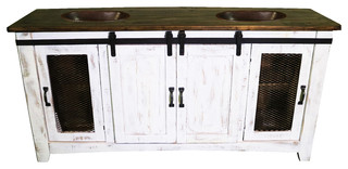 Anton Barn Door Bathroom Vanity - Farmhouse - Bathroom ...
