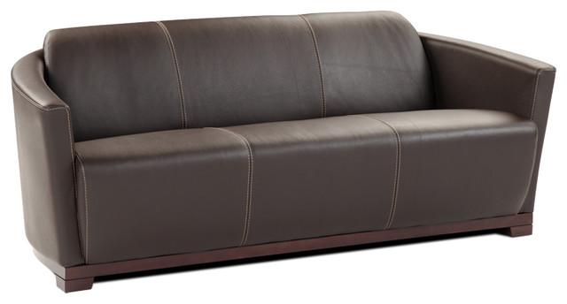 Hotel Italian Leather Sofa.