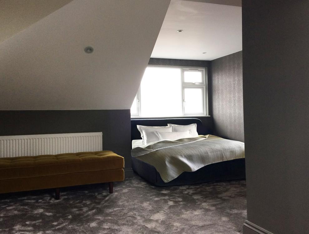 Master bedroom in converted loft