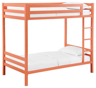 Bentley Twin Over Twin Metal Bunk Bed, Coral