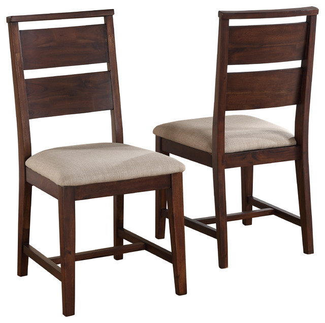 Portland Solid Wood Dining Chairs, Set Of 2 Transitional Dining Chairs