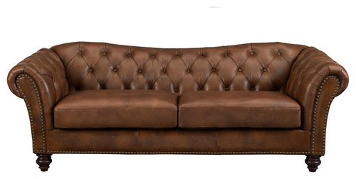 Is the sofa all leather or are particular sections only leather