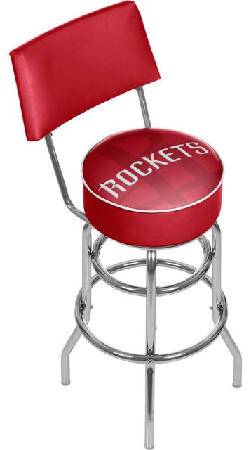 Admirable Nba Swivel Bar Stool With Back Fade Houston Rockets Machost Co Dining Chair Design Ideas Machostcouk