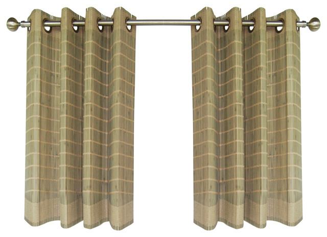 Bamboo Grommet Panel, Driftwood.