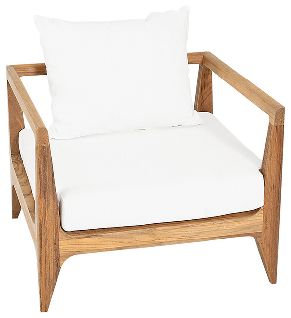 limited 300 lounge chair with canvas natural cushions