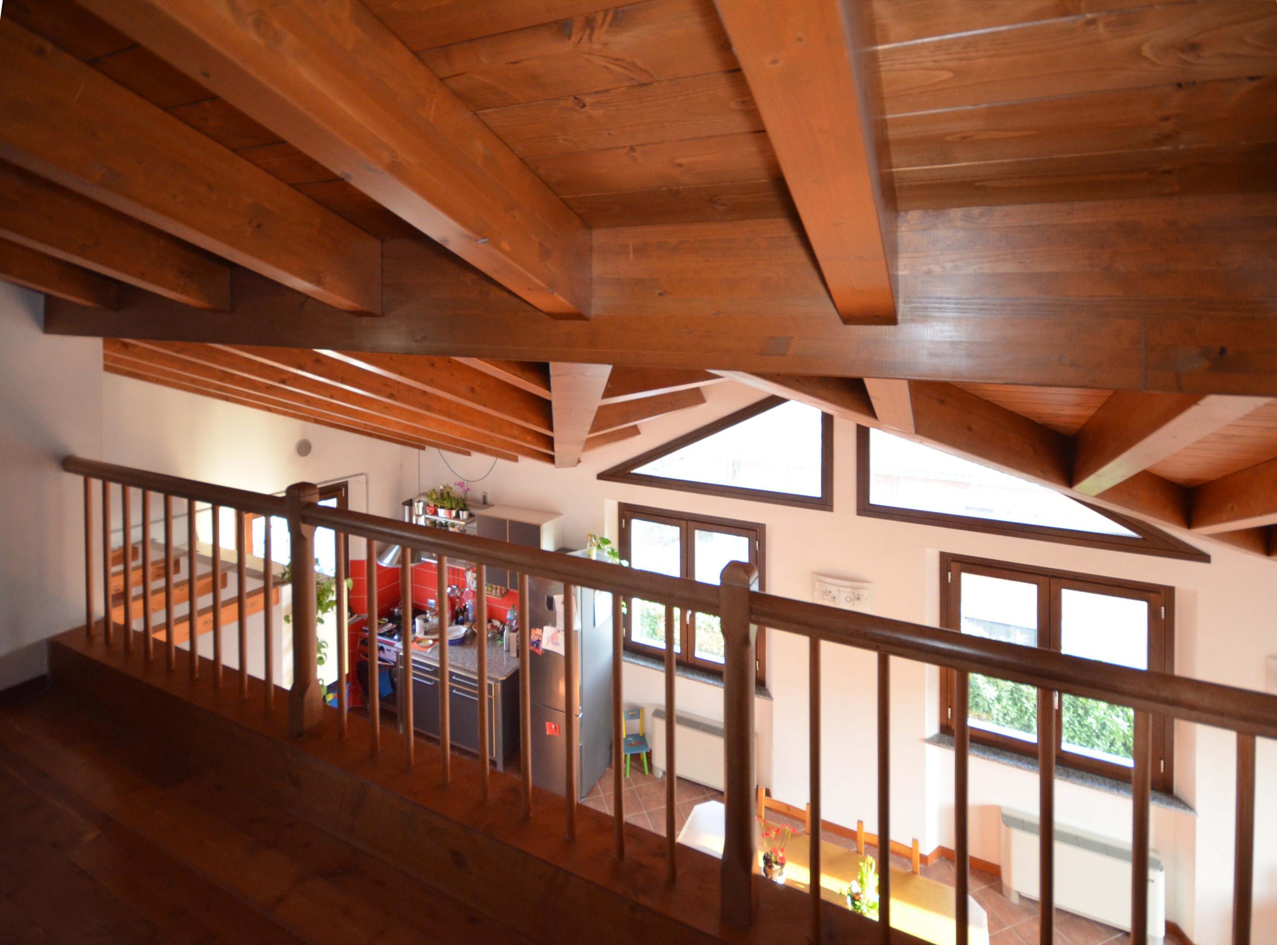 Recupero Sottotetto - copertura e soppalco in legno
