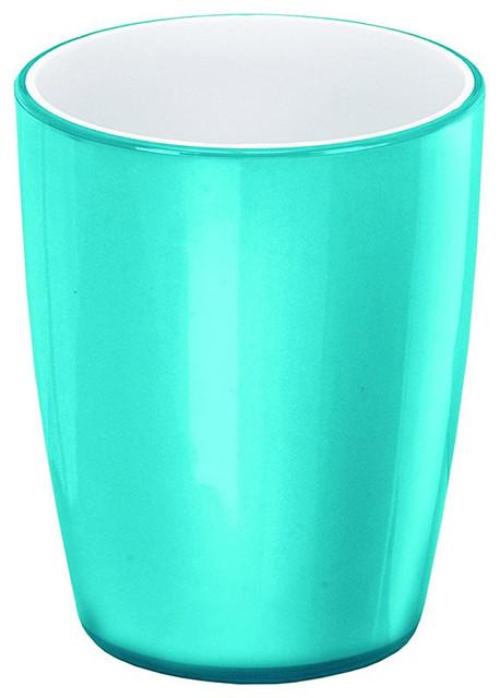 Acrylic bathroom accessories joker turquoise tumbler for Turquoise bathroom accessories