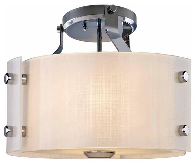 Dvi lighting dvp3112ch tw annapolis semi flush mount for Industrial flush mount lighting
