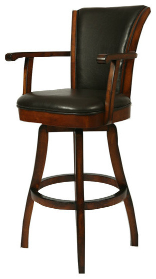 Pastel Glenwood Swivel Barstool With Arms Russet