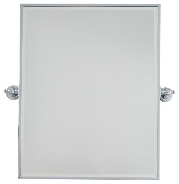 Bathroom Mirror Chrome minka lavery pivoting mirror, brushed nickel - contemporary
