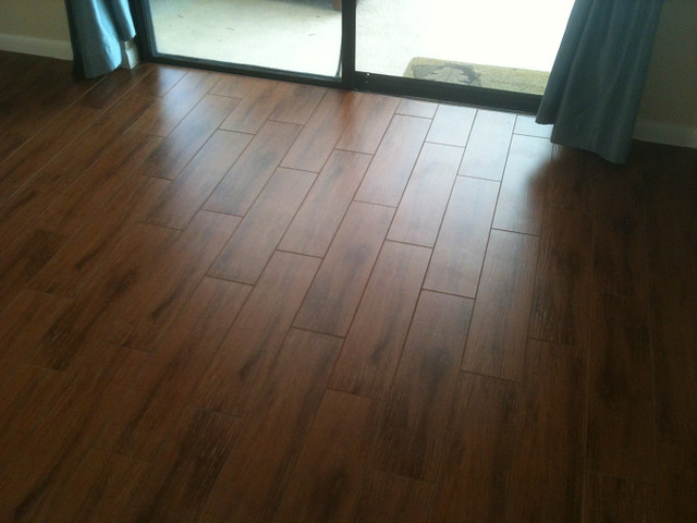 Porcelain plank wood look tile installations Tampa, Florida - Porcelain Plank Wood Look Tile Installations Tampa, Florida