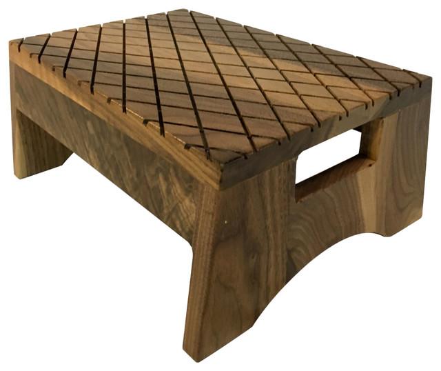 Phenomenal Walnut Step Stool Machost Co Dining Chair Design Ideas Machostcouk