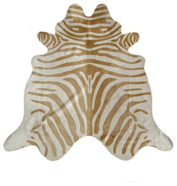zebra print cowhide rug beige stripe on light beige rugs