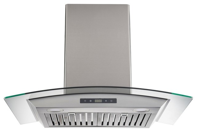 """30"""" Wall-Mount Range Hood in Stainless Steel with Baffle Filter"""
