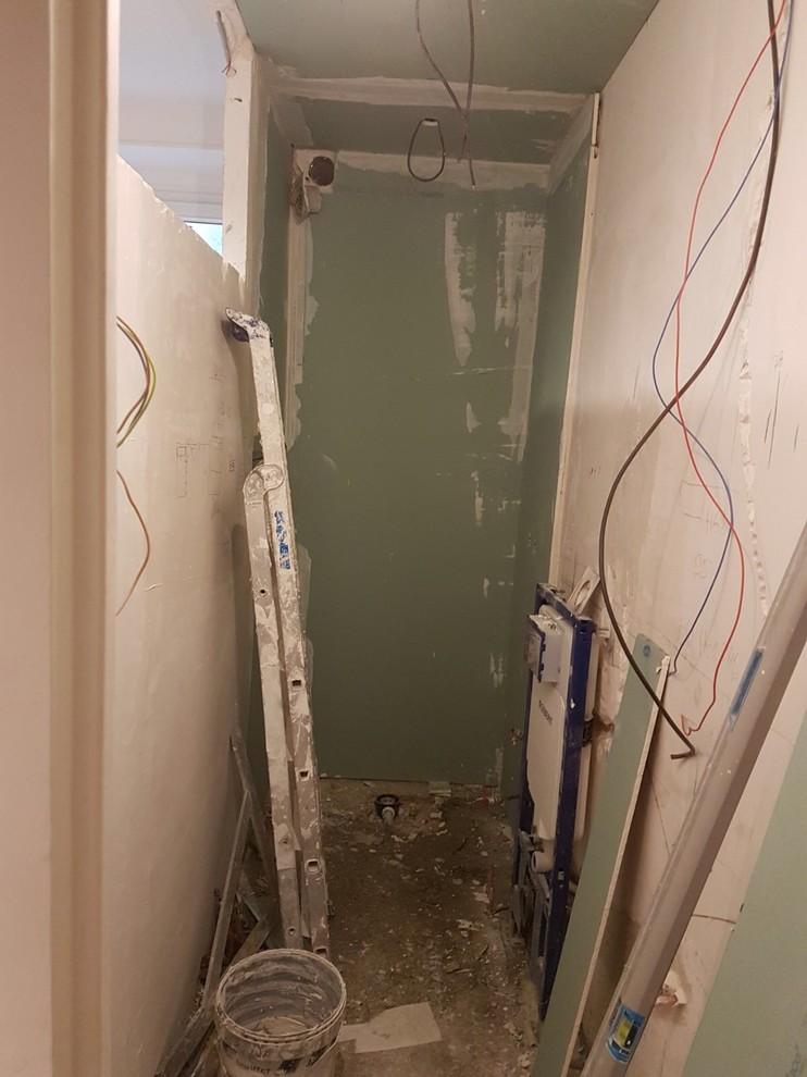 Avant /âpres : ouverture de la salle et bain dans l'entrée
