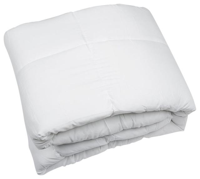 White Polyester Medium Warmth Down Alternative Comforter Duvet Insert King Inserts