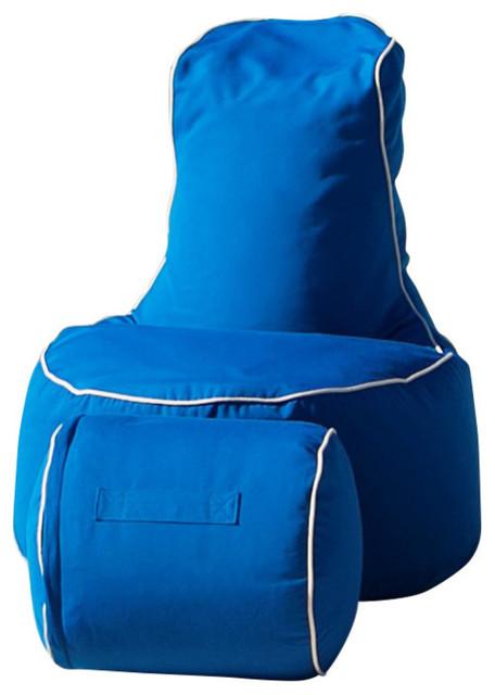 Wondrous Outdoor Indoor Sunbrella Adult Bean Bag Chair With Footstool Pacific Blue Frankydiablos Diy Chair Ideas Frankydiabloscom